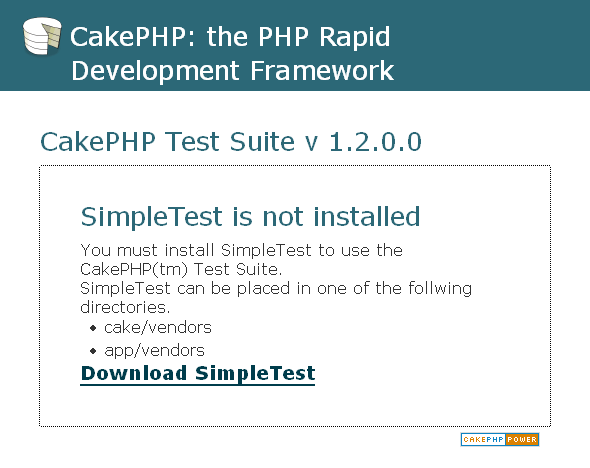 CakePHP Test Suite